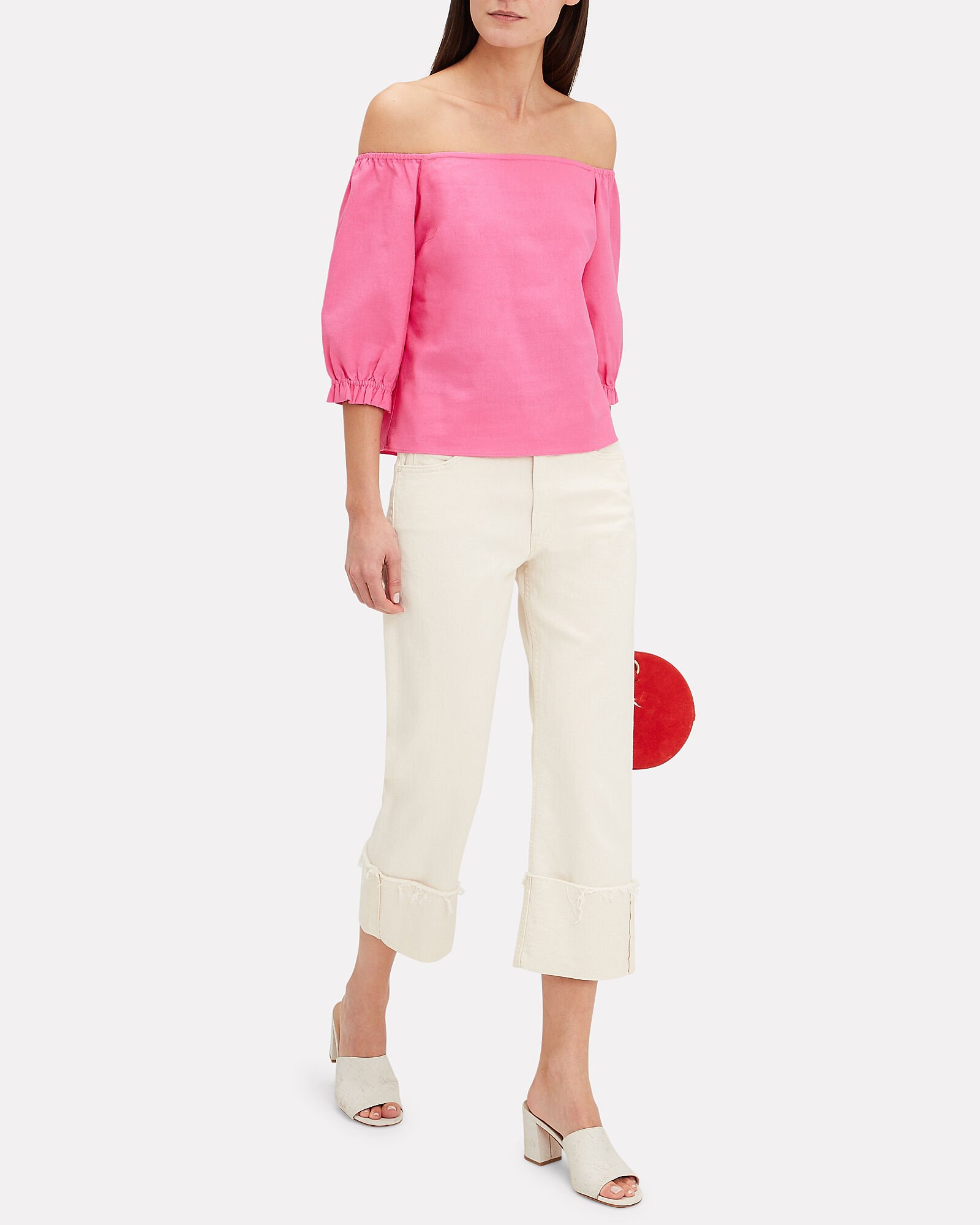 Jenny Off Shoulder Top, PINK, hi-res