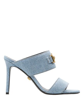 Icon Denim Slide Sandals, BLUE DENIM, hi-res