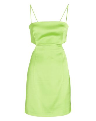 Marta Cut-Out Mini Dress, LIGHT GREEN, hi-res