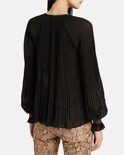 Helena Pleated Chiffon Blouse, BLACK, hi-res