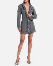 Femme Denim Mini Dress, CHARCOAL, hi-res