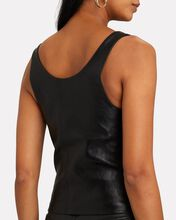 Fitted Leather Tank Top, BLACK, hi-res