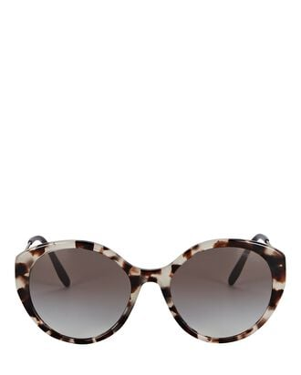 Rounded Cat Eye Sunglasses, IVORY/BLACK, hi-res
