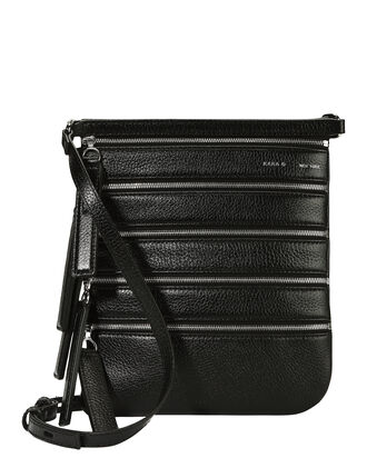Multi Zip Crossbody Bag, BLACK, hi-res