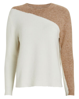 Marley Colorblocked Sweater, IVORY/BEIGE, hi-res