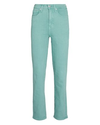 Ryleigh Slim Straight-Leg Jeans, TEAL, hi-res