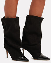 Laura Slouchy Leather Ankle Boots, BLACK, hi-res