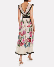 Poppy Flower Embroidered Tulle Dress, IVORY/FLORAL, hi-res