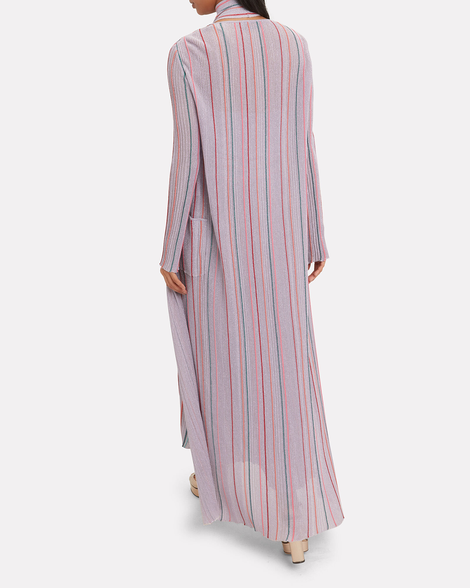 Lilac Lurex Striped Duster, PURPLE-LT, hi-res