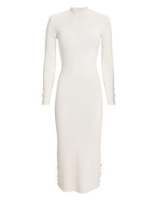Turtleneck Knit Dress, IVORY, hi-res