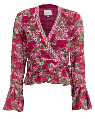 Stacia Floral Wrap Top, MULTI, hi-res