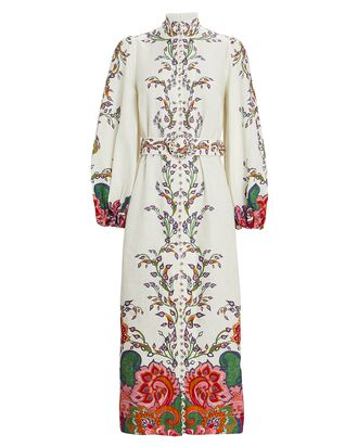Lovestruck Floral Paisley Midi Dress, IVORY, hi-res