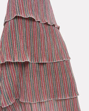 Luba Rainbow Lurex Tiered Dress, RAINBOW STRIPE, hi-res