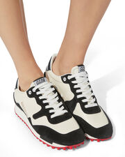 Starland Runner Sneakers, BLK/WHT, hi-res