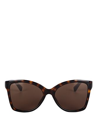 Butterfly Logo Sunglasses, BROWN, hi-res