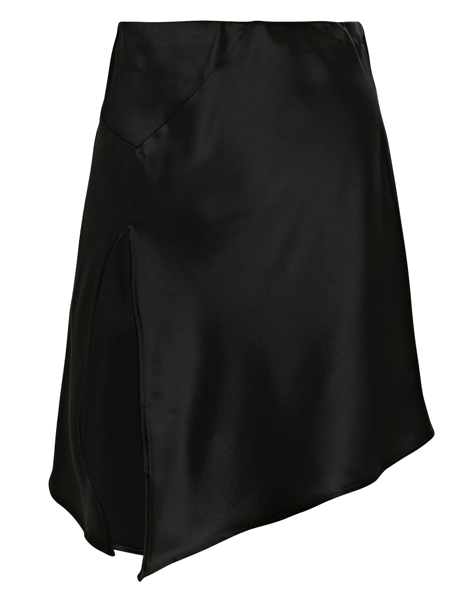 Cameron Slit Hem Mini Skirt, BLACK, hi-res
