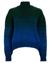Cropped Ombré Mock Neck Sweater, MULTI, hi-res