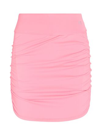 Tulip Ruched Tennis Skirt, PINK, hi-res