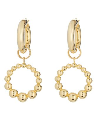 Effervescence Hoop Earrings, GOLD, hi-res