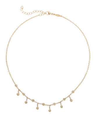 Half Shaker Diamond Necklace, GOLD, hi-res