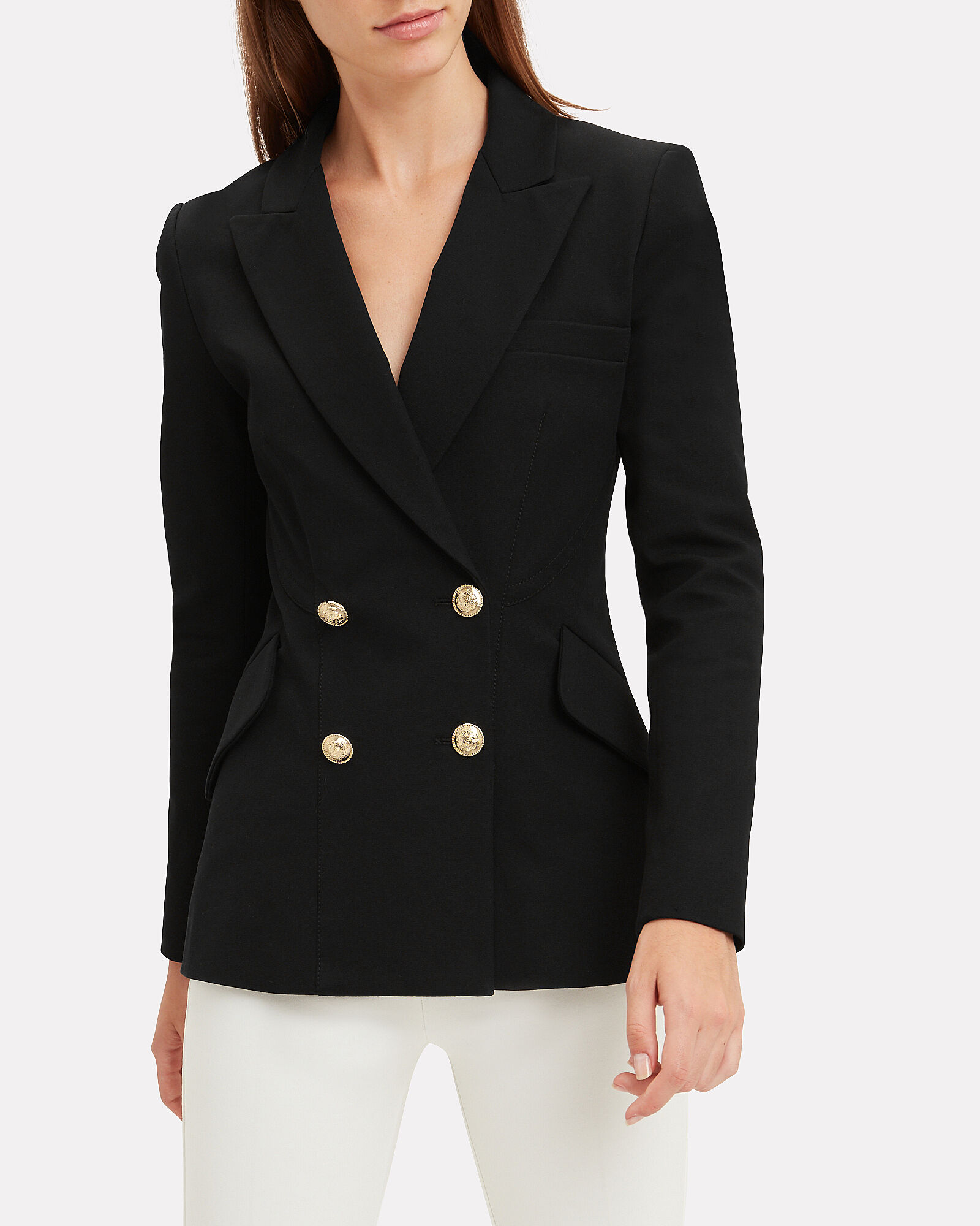 Rodeo Double-Breasted Blazer, BLACK, hi-res