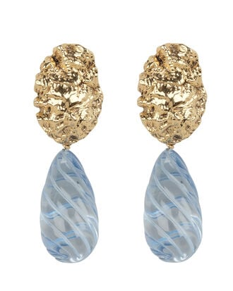 Whirlpool Drop Earrings, GOLD/BLUE, hi-res