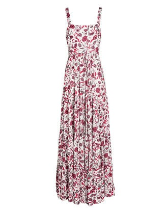 Zofia Sleeveless Floral Maxi Dress, MULTI, hi-res