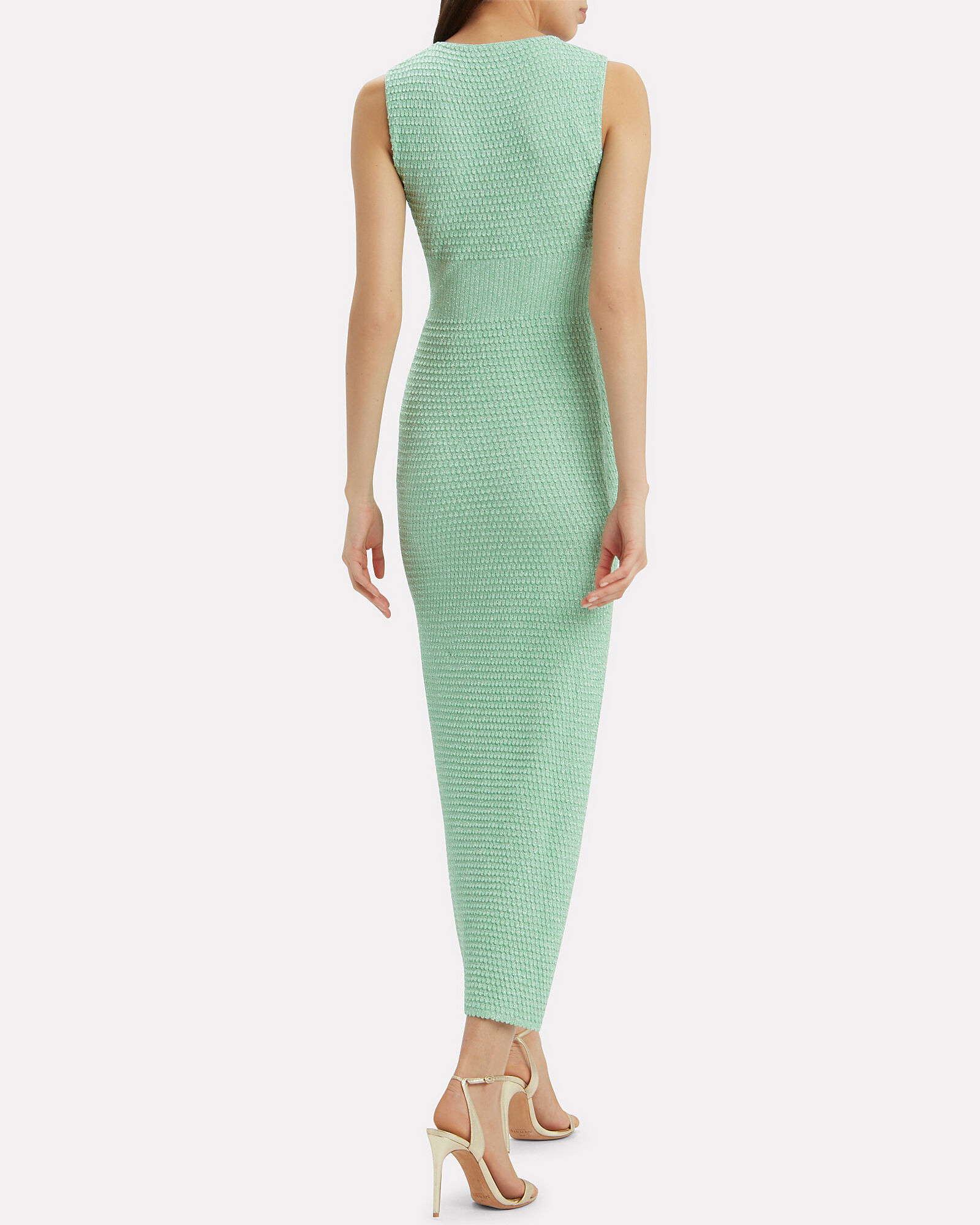 Seafoam Stretch Jersey Dress, GREEN-LT, hi-res