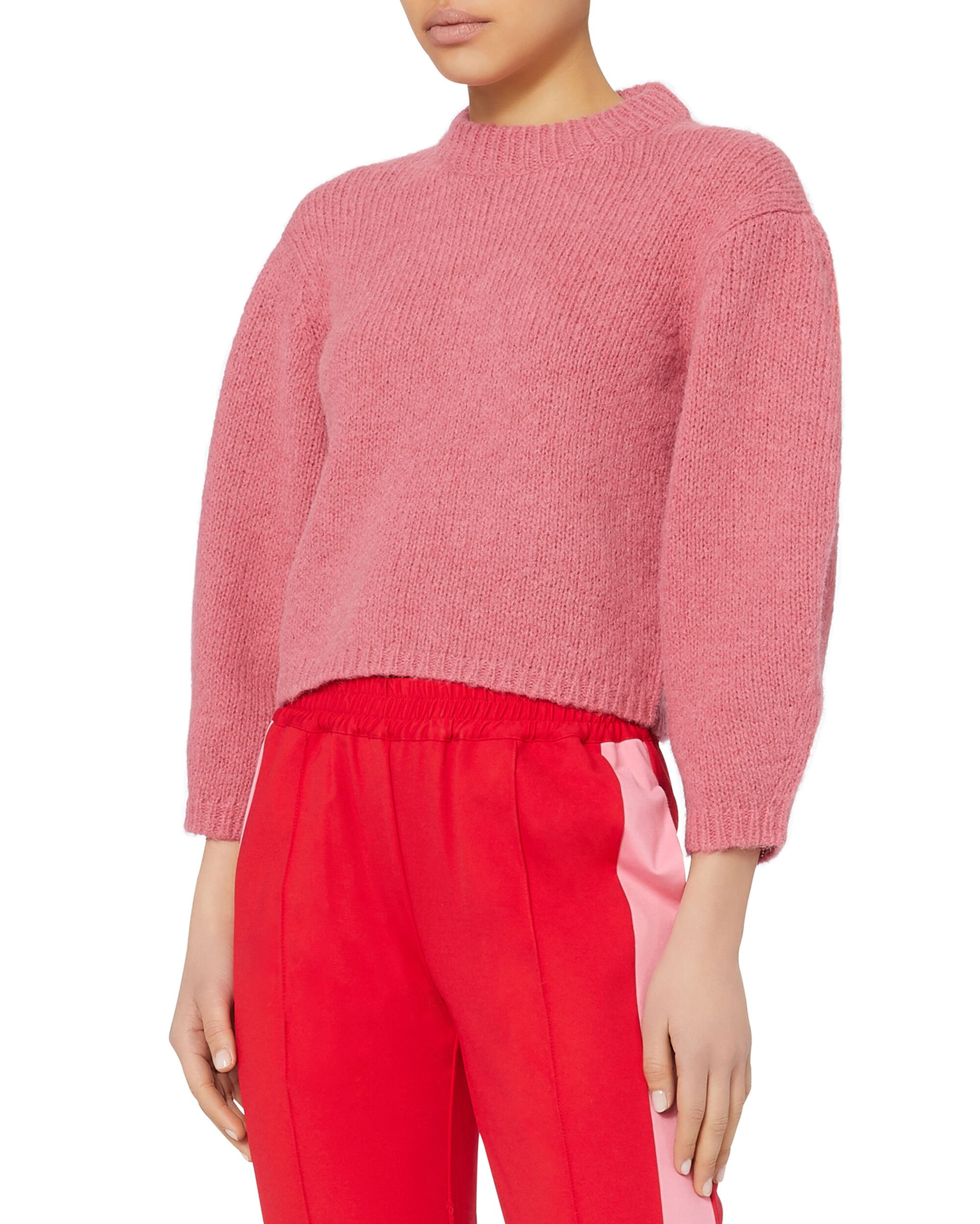 Cozette Cropped Pullover, PINK, hi-res