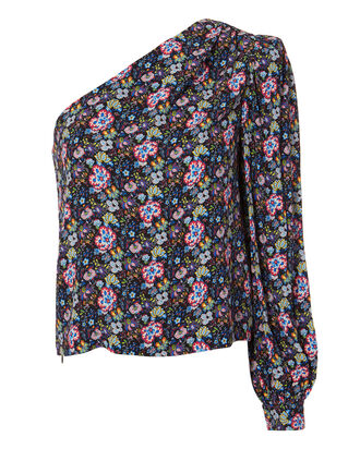 Floral One Shoulder Top, MULTI, hi-res