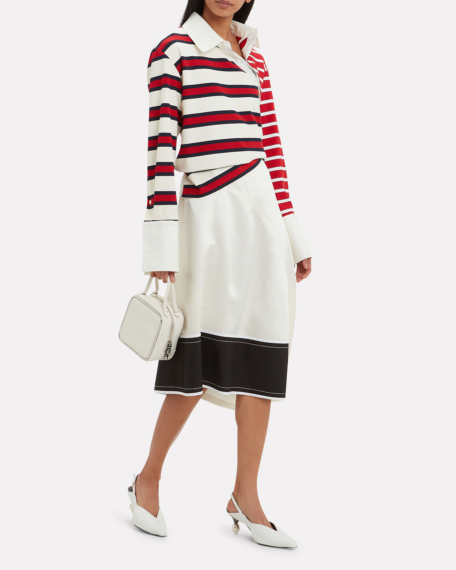 Twisted Stripe Rugby Top, RED, hi-res