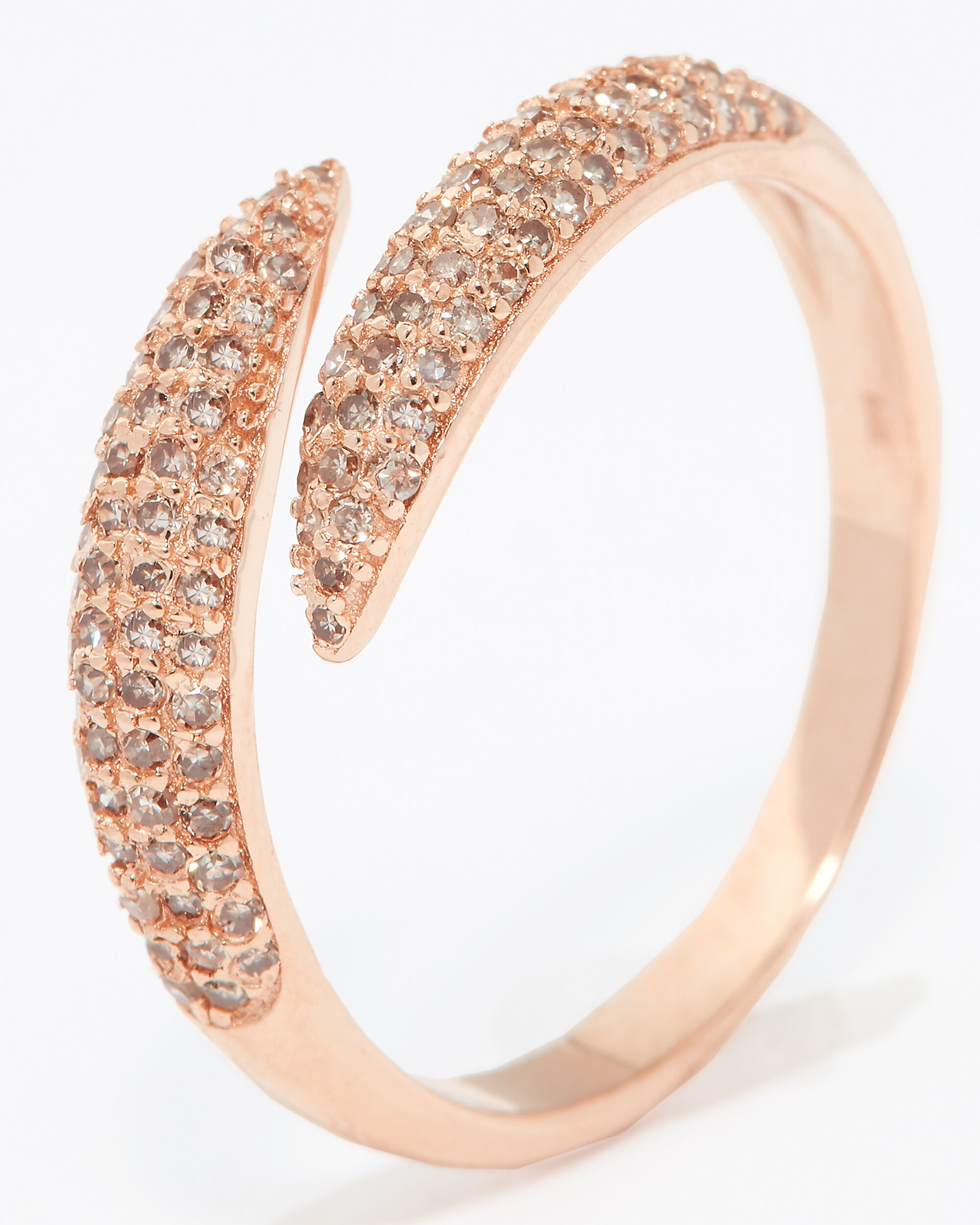 Claw Pavé Ring, ROSE, hi-res