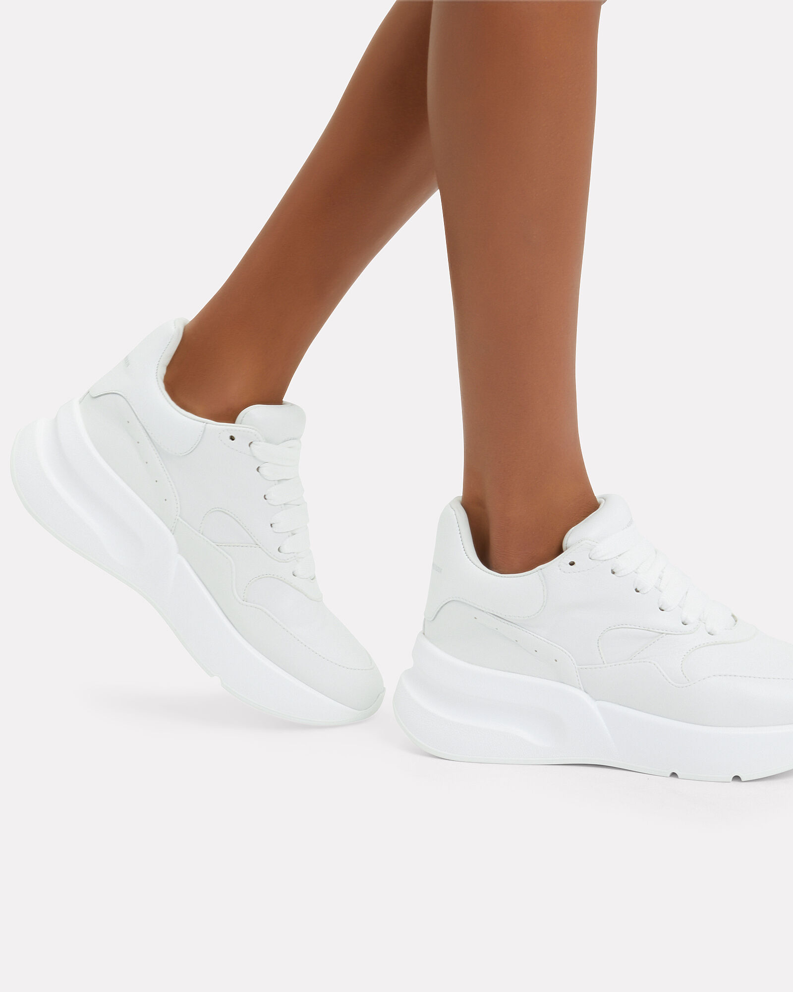 Oversized Runner Sneakers, WHITE, hi-res