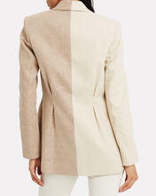 Belvue Double-Breasted Two-Tone Blazer, BEIGE, hi-res
