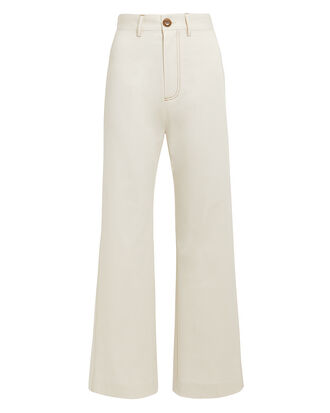 Stella Stretch Suiting Pants, ECRU, hi-res