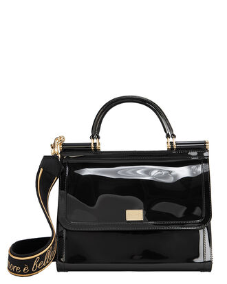 Sicily Rubber Bag, BLACK, hi-res