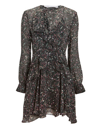 Honess Printed Mini Dress, BLACK, hi-res
