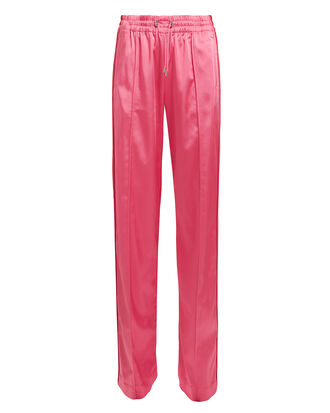 Satin Track Pants, PINK/RED, hi-res