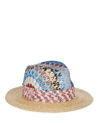 Knit Chevron Fedora, BEIGE/RAINBOW, hi-res