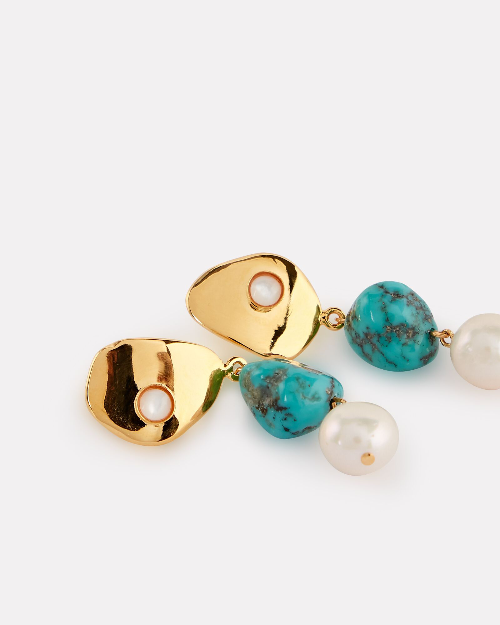 Shore Pearl Drop Earrings, TURQUOISE, hi-res