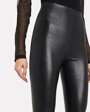 Perfect Control Faux Leather Leggings, BLACK, hi-res