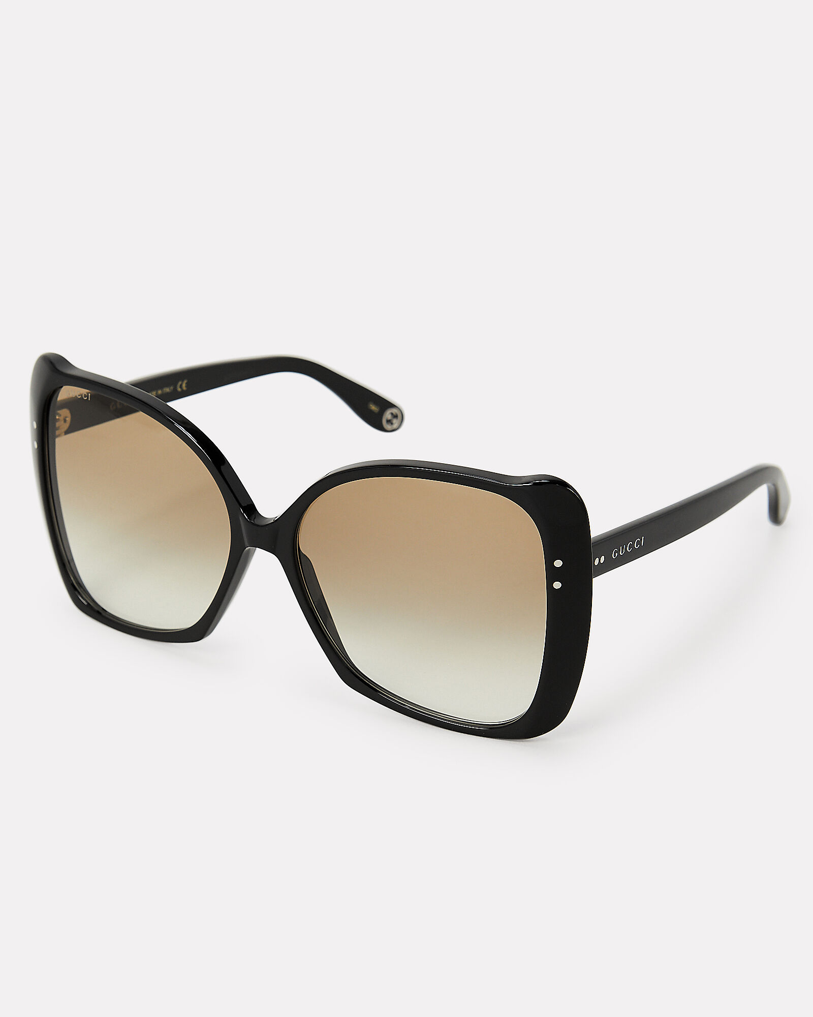 Oversized Square Frame Sunglasses, BLACK, hi-res