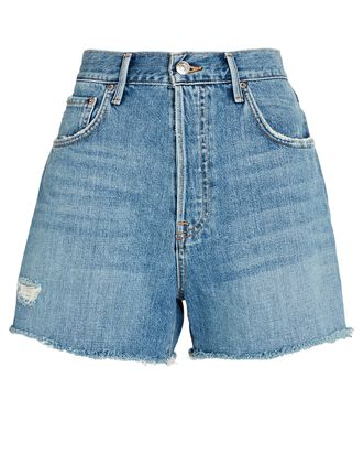 Jules Denim Cut-Off Shorts, DENIM, hi-res