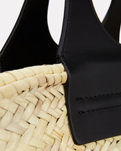 Cabas Straw Tote Bag, BEIGE/BLACK, hi-res