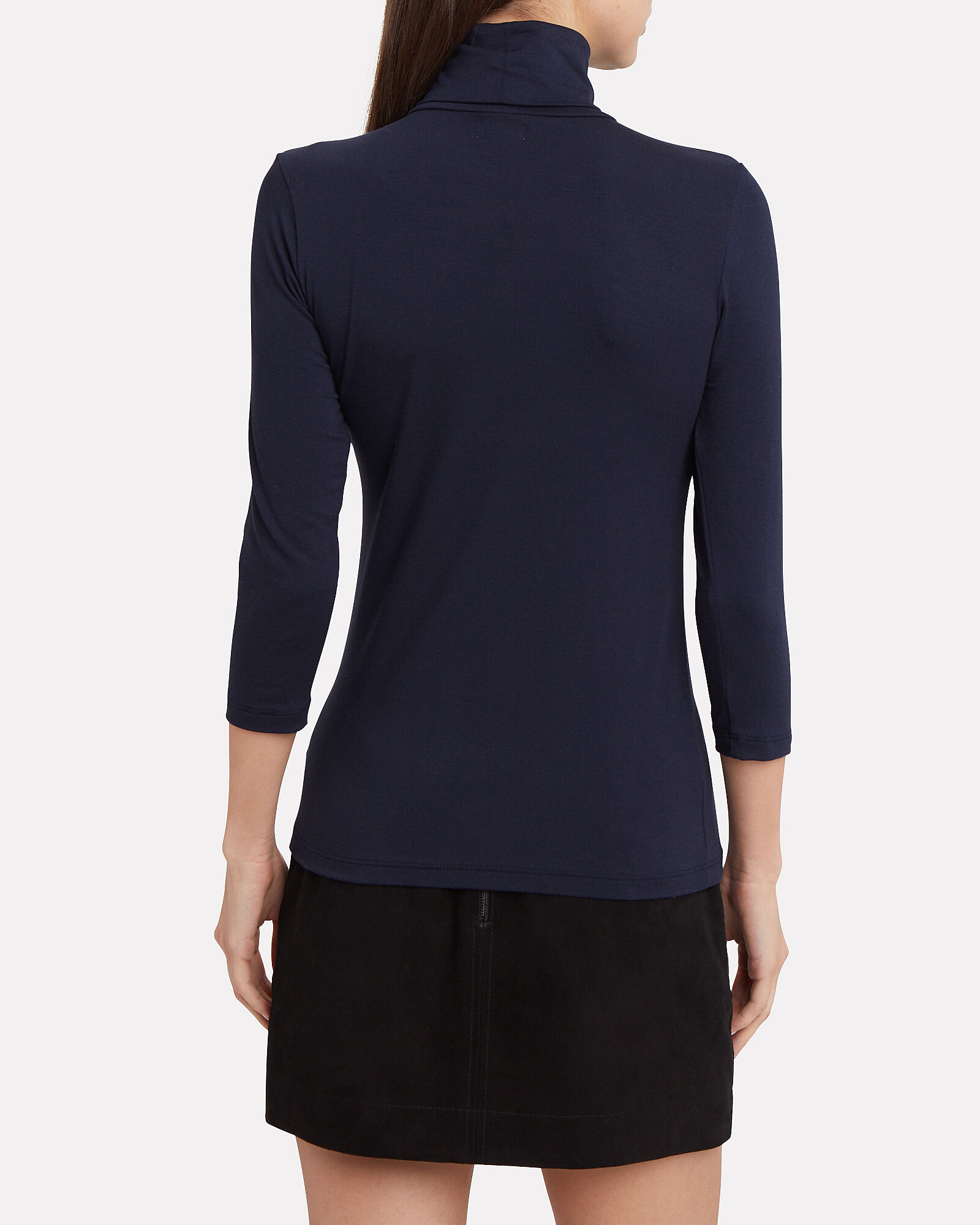 Aja Turtleneck Top, NAVY, hi-res