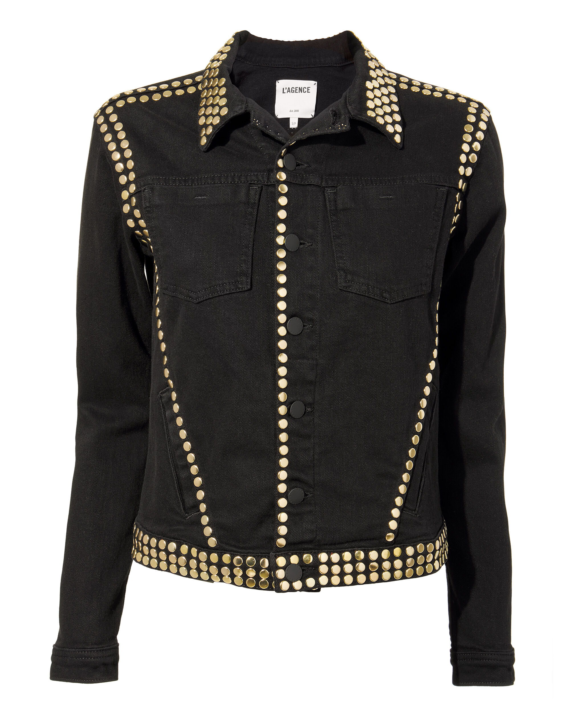 Celine Studded Jacket, BLACK, hi-res