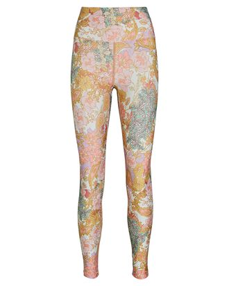 Piper Floral Leggings, PINK/MUSTARD, hi-res