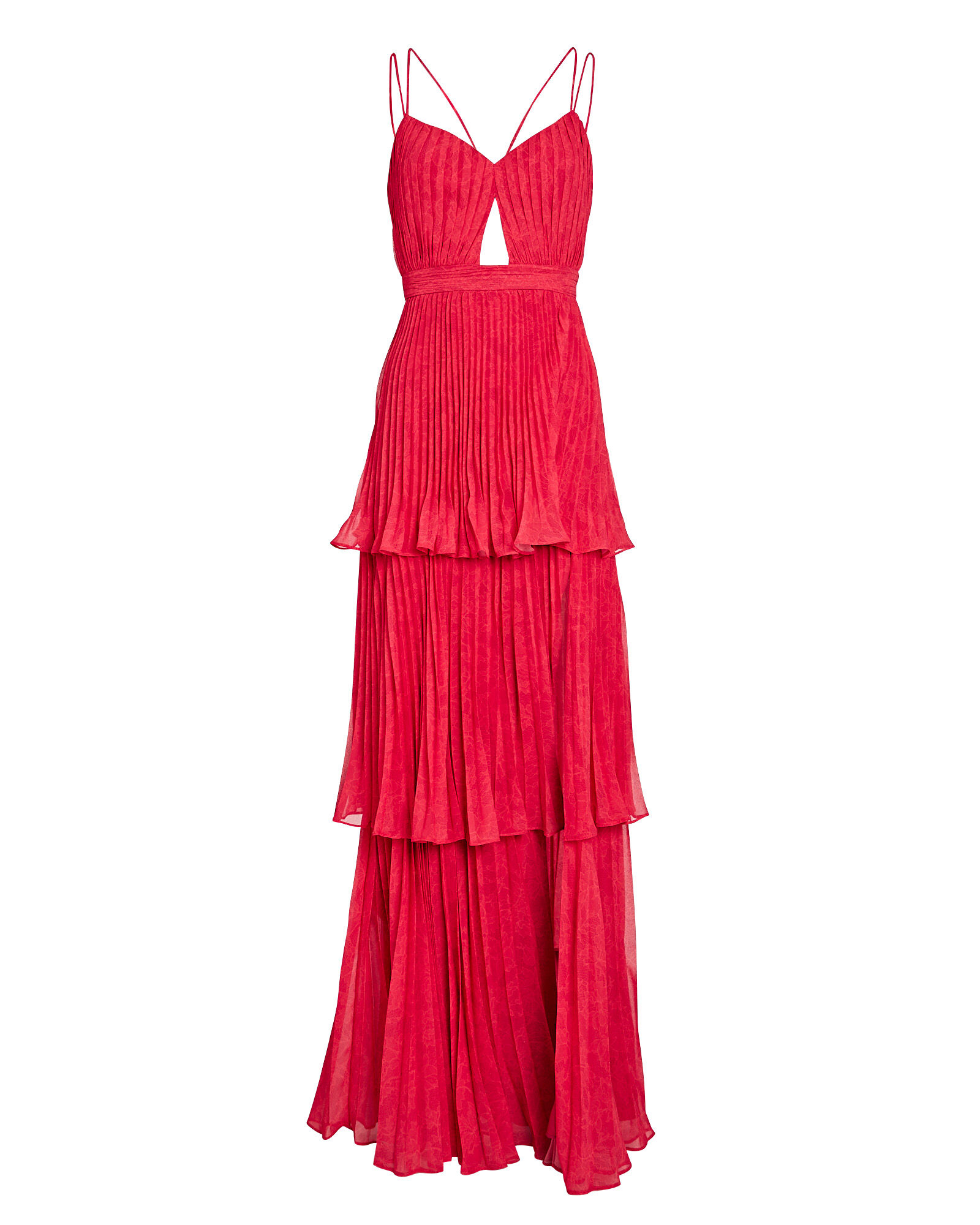 Dominique Pleated Cut-Out Dress, ROSE, hi-res