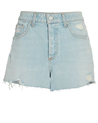 Adele High-Rise Denim Shorts, BLUE SKY, hi-res