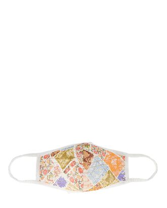 Zoie Patchwork Cotton Face Mask, MULTI, hi-res